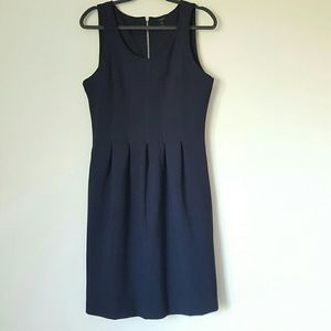 J Crew fit and flare exposed back zipper dress